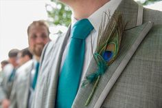 Romantic Peacock Wedding I love the colors of the suit with the tie.....