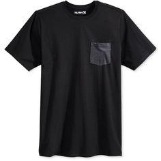 Hurley Men's Contrast-Pocket T-Shirt (160 DKK) ❤ liked on Polyvore featuring men's fashion, men's clothing, men's shirts, men's t-shirts, men, tops, black heather, mens pocket t shirts, hurley mens shirts and mens t shirts