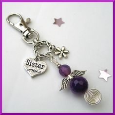 Sister Guardian Angel Bag Charm £5.95