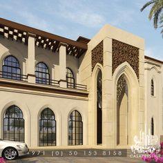 O Box 454932 United Arab Emirates Mosque Architecture, Neoclassical Architecture, Modern Architecture House, Architecture Design, Villa Design, Facade Design, Exterior Design, Mediterranean Homes Exterior, Dubai Houses