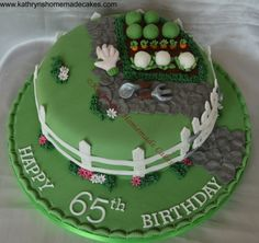 Vegetable Patch/garden cake