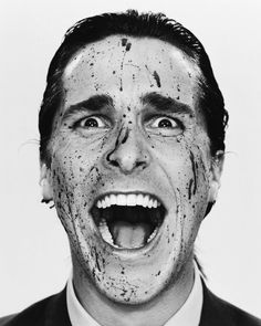 Christian Bale by Martin Schoeller (Novel: American Psycho by Bret Easton Ellis) Foto Portrait, Portrait Photography, Martin Schoeller, 7 Arts, Celebrity Portraits, Famous Faces, Horror Movies, Movie Stars, Pop Art