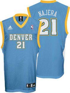 82df0294c17 Denver Nuggets Eduardo Najera 21 Blue Authentic Jersey Sale Nfl Womens  Jersey, Allen Iverson,
