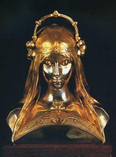 Head of a Girl   Alphonse Mucha