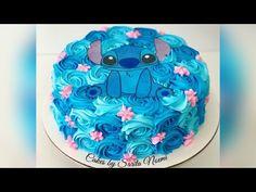 Buttercream Birthday Cake, Cake Icing, Cupcake Cakes, Lilo And Stitch Cake, Lilo Y Stitch, Kylie Birthday, 10th Birthday, Channel Cake, Tres Leches Cake