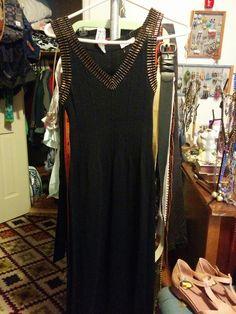 "$20 Shipped. Vintage Banff Ltd. Size 12. 40% Wool, 60% Acrylic. 14"" Waist. Stretchy, sweater material. Beautiful Dress!"
