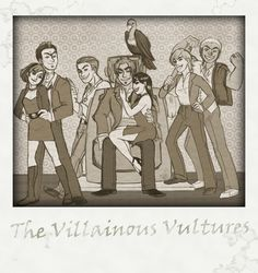 The Villainous Vultures #Aleheather. I LOVE THIS EXCEPT FOR THE GWUNCAN PART CAUSE GWUNCAN CAN BURN IN HELL