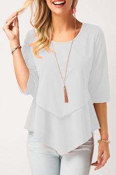 Stylish Tops For Girls, Trendy Tops, Trendy Fashion Tops, Trendy Tops For Women Page 4 Stylish Tops For Girls, Trendy Tops For Women, Blouses For Women, Blouse Styles, Tunic Tops, Peplum Tops, Chiffon, Fashion Outfits, Trendy Fashion
