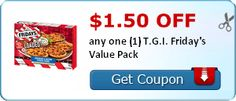 Coupon $1.50 off any one T.G.I. Friday's Value Pack http://azfreebies.net/coupon-1-50-one-t-g-fridays-value-pack/