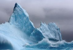Iceberg in a storm