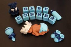 Fondant edible baby Prince personalized with by evynisscaketopper