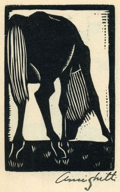 "Francisco Amighetti  1907 - 1998. Yegua from the portfolio ""Grabados en Madera""   1934   woodcut"