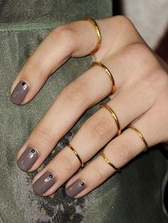 Try a neutral nail with dotty details for prom!