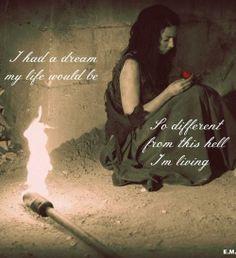 Quote, sad, broken