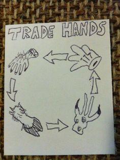 Trade Hands.   #1000blankwhitecards #1000bwc  #cardgames