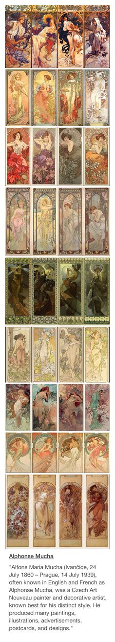 Alphonse Mucha! His art nouveau style is simply amazing! He's one of my favourite artists for sure!