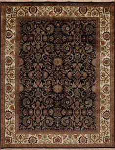 British Raj 2000 - Devon - Samad - Hand Made Carpets Black Rugs, Devon, Carpets, British, Handmade, Farmhouse Rugs, Rugs, Hand Made, Handarbeit
