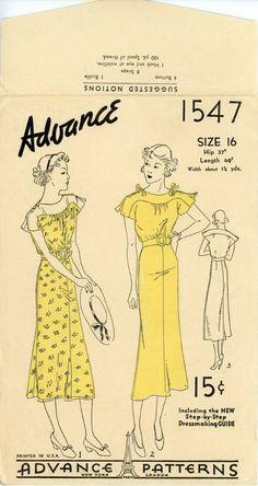 1935 - Advance Dress Pattern