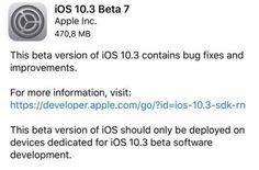 iOS 10.3 beta 7 a fost lansat pentru iPhone si iPad