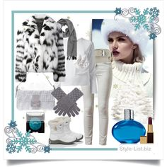 Winter Casual Fur Outfit by http://style-list.biz  Join us on Facebook to get updates: https://www.facebook.com/stylelist.biz