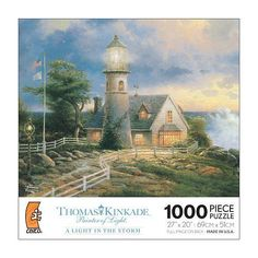 Thomas Kinkade Puzzle Painter of Light Series: A Light in the Storm, 1000 Pieces…
