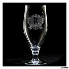 Winged Shield Personalized Goblet