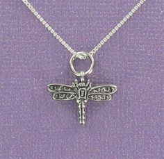 Sterling Silver Dragonfly Pendant on Card with by Classy925, $20.00