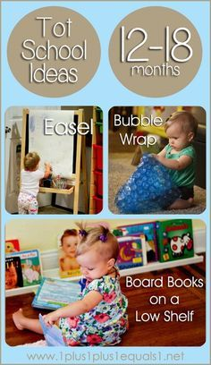 Tot School Ideas for Ages 12-18 Months from @{1plus1plus1} Carisa #babyplay #totschol