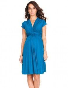 turquoise maternity dress