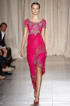 Marchesa spring 2013 Indian-Arabic inspired embroidery