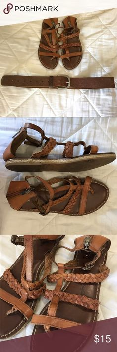 American Eagle Outfitters sandals and belt Used. In good condition. Please feel free to make me an offer! Thanx for looking! American Eagle Outfitters Shoes Sandals