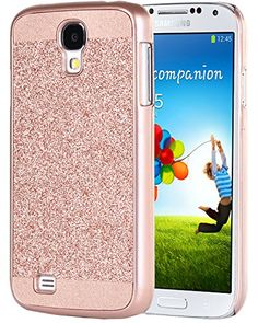 Galaxy S4 Case BENTOBEN Luxury Shiny Bling PC Case Sparkly Protective Cover for Samsung Galaxy S4 Rose Gold * Check out this great product. This is Amazon affiliate link.