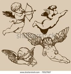 cherub tattoo flash - Google Search