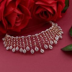 Discover a wide range of Diamond Necklace Set at Waman Hari Pethe Sons. Jewelry Design Earrings, Gold Earrings Designs, Gold Jewellery Design, Gold Jewelry, Diamond Jewellery, Necklace Designs, Jewelry Rings, Jewelry Accessories, Gold Mangalsutra Designs