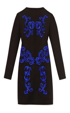 Clover Canyon Embroidered Funnel Neck Cocktail Dress