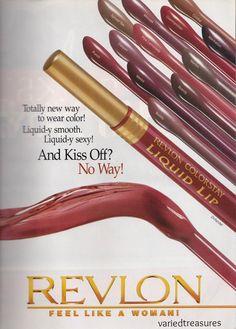 #vintage #90s #makeup #ad #lipstick #lipgloss #revlon #colorstay