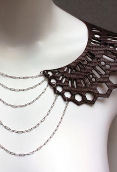 lazer cut leather | laser cut leather collar piece