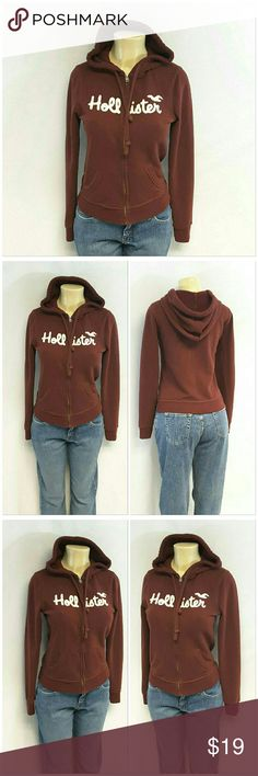 "HOLLISTER Burgundy Hoodie size Medium HOLLISTER, Burgundy,Zip Front Hoodie, size Medium See Measurements, thermal material inside hood, exposed slightly distressed double stitching, very soft, machine washable, 60% cotton, 40% polyester, exclusive of decoration, approximate measurements: 22 3/4"" length shoulder to hem, 20 1/2"" bust laying flat, 27"" sleeves, 16"" width shoulder seam to shoulder seam. ADD TO A BUNDLE! 20% BUNDLE DISCOUNT Hollister Tops Sweatshirts & Hoodies"