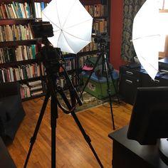 Turning the house into a studio. #moviemakingmagic