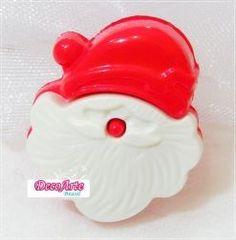 Botão de  Natal - Papai Noel - Pct com  5