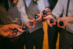 great groomsmen gift idea & fun touch to the men's attire >> pocket watches with their names engraved on the front! photo by Anna Lee Media