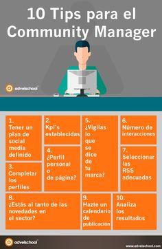 Hola: Una infografía con10 consejos para el Community Manager. Vía Un saludo