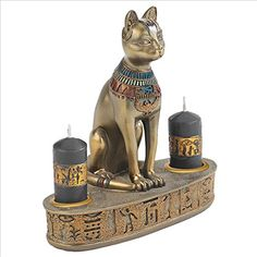 Park Avenue Collection Altar Of The Goddess Bastet Candleholder
