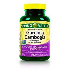 Spring Valley Garcinia Cambogia Vegetable Capsules, 800 mg, 90 Ct, 2 Pk Herbal Remedies, Health Remedies, Natural Cures, Natural Health, Natural Hair, Diet Pills That Work, Sugar Scrub Diy, Detox Drinks, Lose Weight