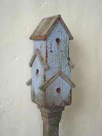 Pretty blue birdhouse