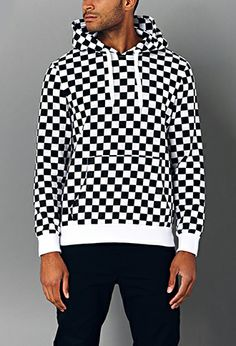 Bold Checkered Hoodie | 21 MEN - 2000065880 #ForeverHoliday