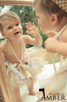 Tutu Vintage Lace Gold Pearl Brown White, Baby Tutu, 0-24m, Photo Prop Tutu, Childrens Toddler Infant Tutu, Birthday. $37.00, via Etsy.