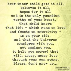 Your Inner Child ❤️☀️