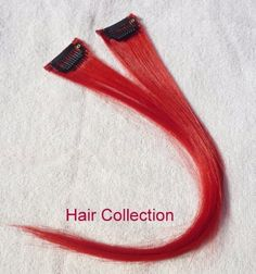 "Hair Collection-12"" Red 100% Human Hair Clip in on Extensions - 1.6""widex2pcs by Hair Collection. $7.99"