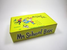 school boxes--I loved getting my new one each year; one year, I actually had a real cigar box!